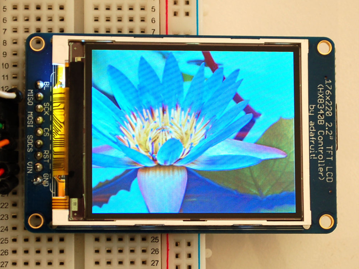 2 2 18 Bit Color Tft Lcd Display With Microsd Card