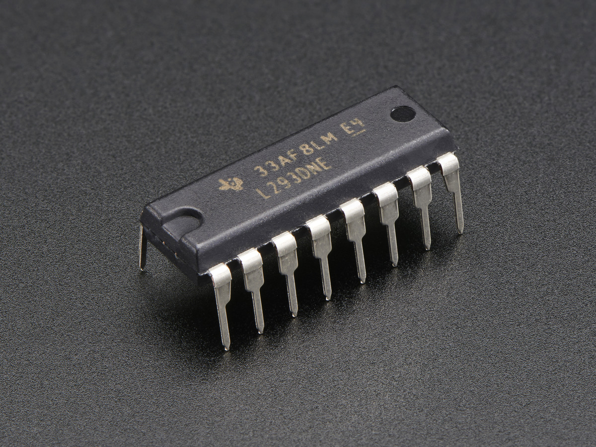 Dual H Bridge Motor Driver For Dc Or Steppers 600ma L293d Id Diagram Together With L298 Circuit Pin On