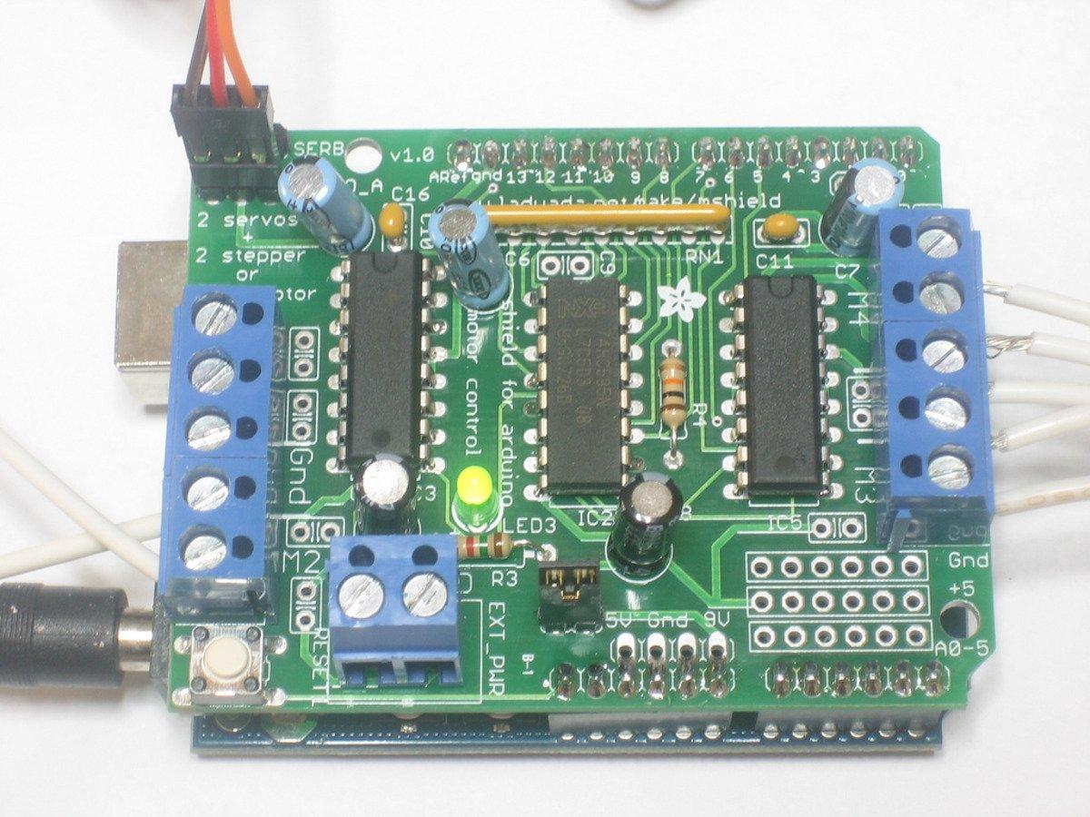 Adafruit Motor Stepper Servo Shield For Arduino Kit V1 2