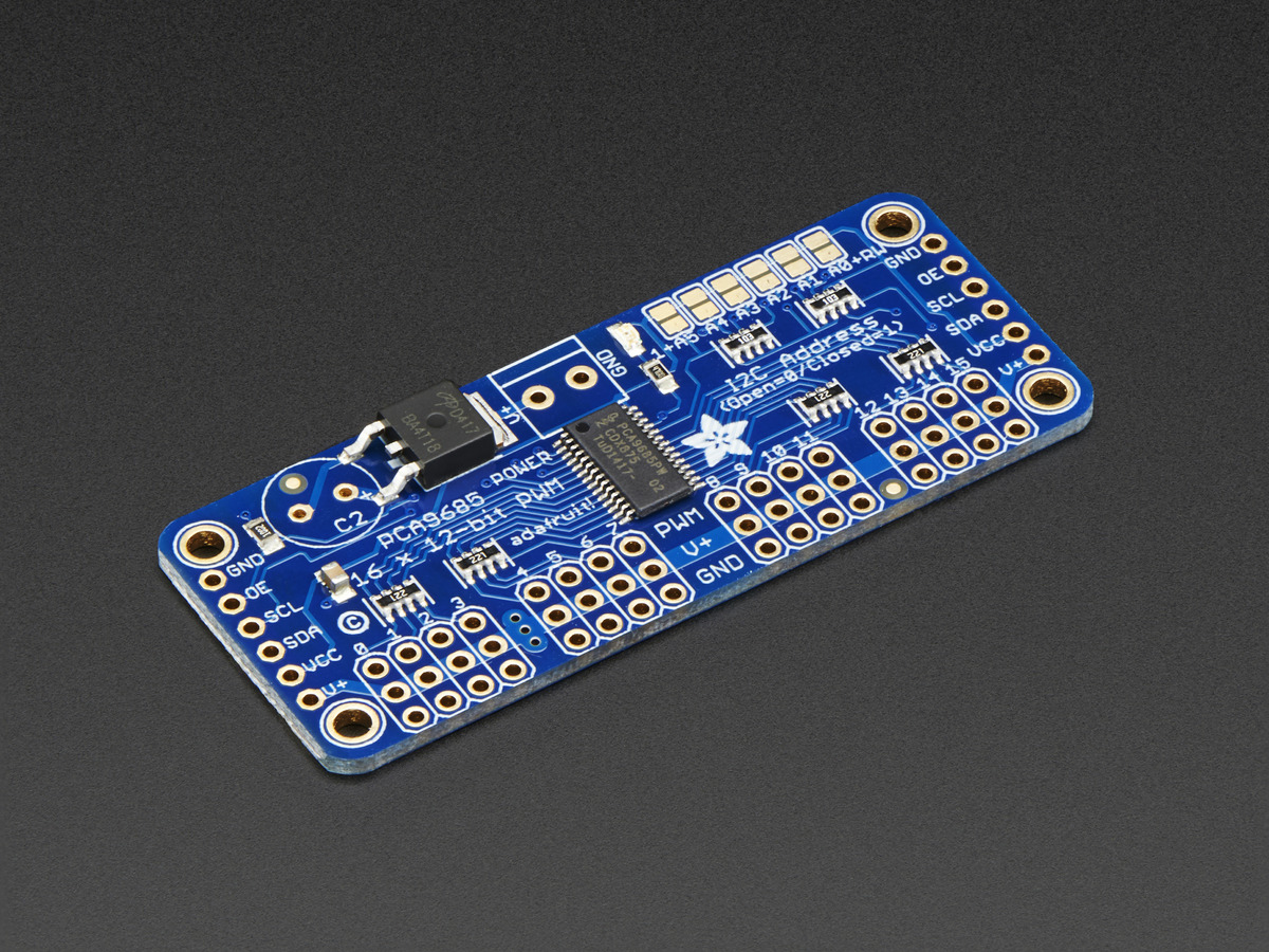 ADAFRUIT 24-CHANNEL 12-BIT PWM LED DRIVER FREE
