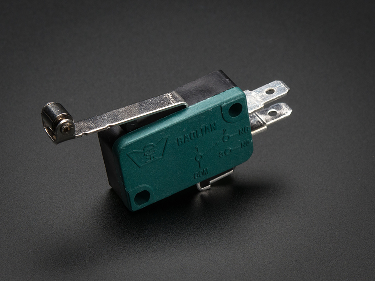 micro switch w roller lever three terminal id 819 1 95 micro switch w roller lever three terminal