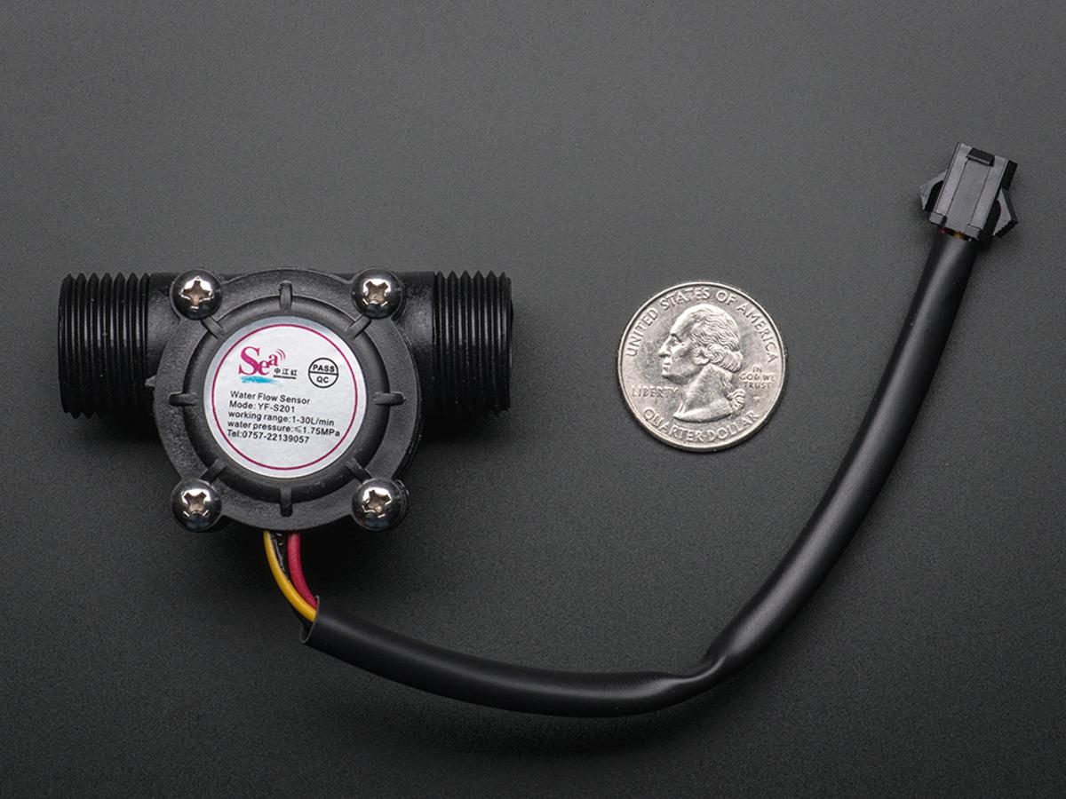 Liquid Flow Meter - Plastic 1/2 NPS Threaded ID: 828 - $9 95