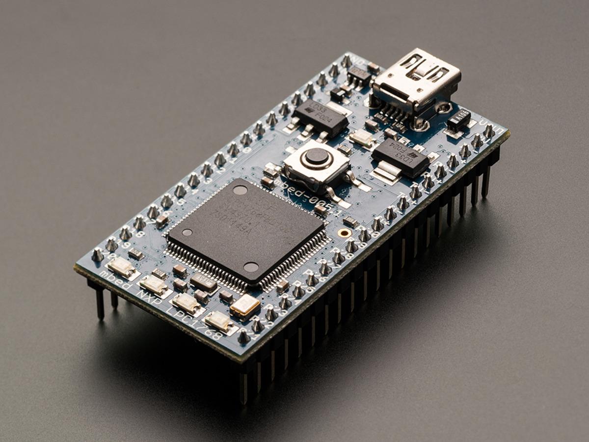 mbed + extras - LPC1768 development board [v5 1] ID: 834 - $64 95