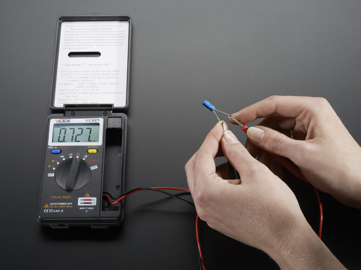 Pocket Autoranging Digital Multimeter Id 850 2495 Adafruit Accessories 624v Circuit Voltage Tester Light Probe Pen Test Tool
