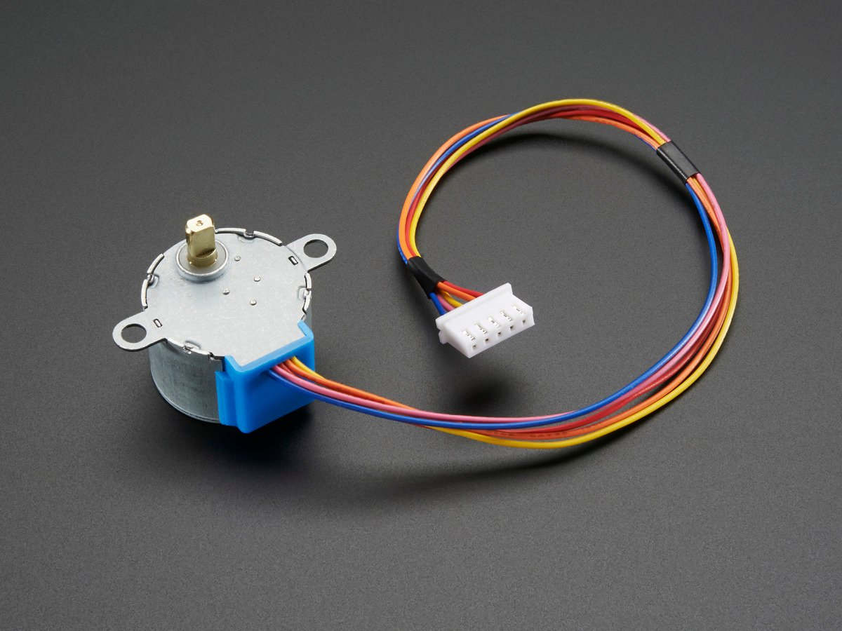 Small Reduction Stepper Motor 5vdc 32 Step 1 16 Gearing Id 858 Unipolar Control Circuit With Pic16f877