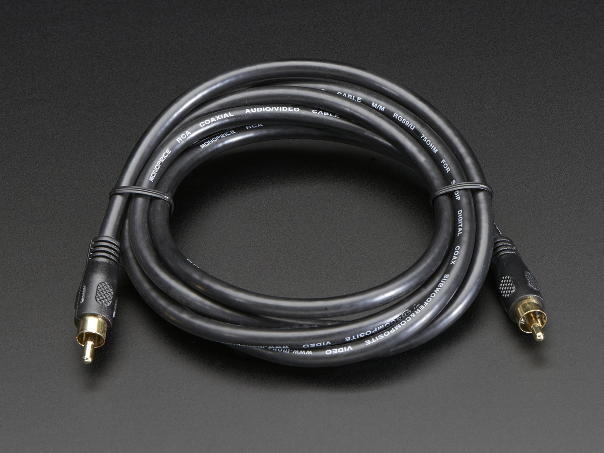 Rca Composite Video Audio Cable 6 Feet Id 863 295 Adafruit Wiring Cables