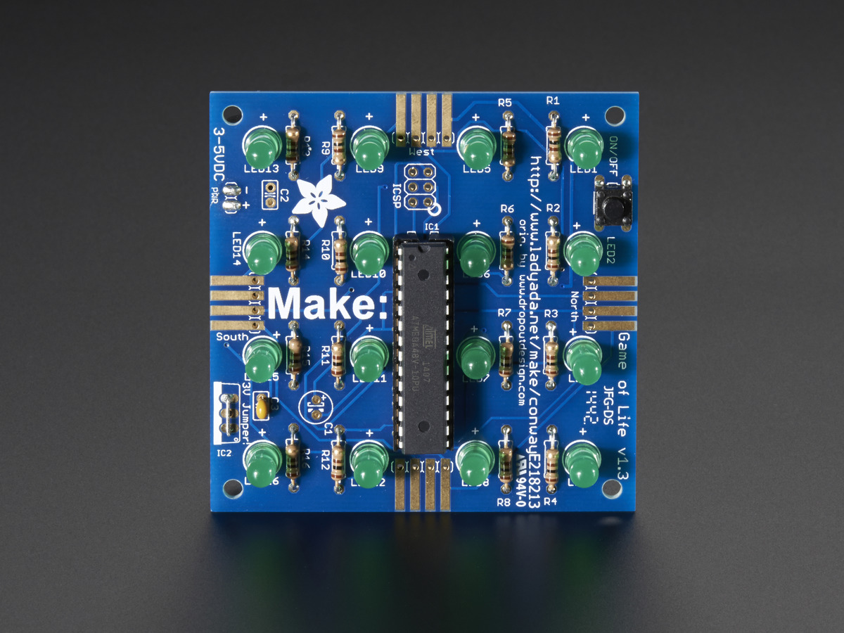 Conways Game Of Life Kit V13 Id 89 1250 Adafruit Electronic Circuit Toy