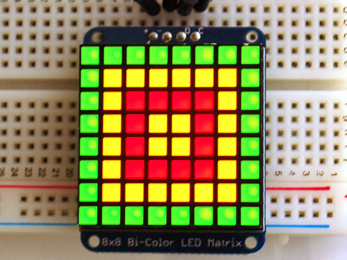 32x32 Rgb Led Matrix Panel 4mm Pitch Id 607 4995 Adafruit Tri Star Wiring Diagrams Signs Bicolor Square Pixel With I2c Backpack
