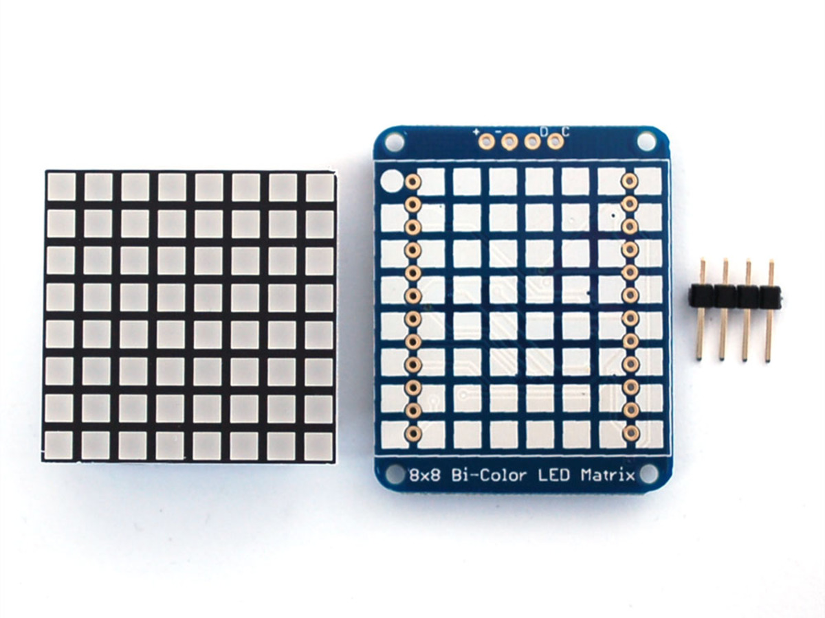 Adafruit Bicolor Led Square Pixel Matrix With I2c Backpack Id 902 Step 3 Assemble The Color Changing Circuit