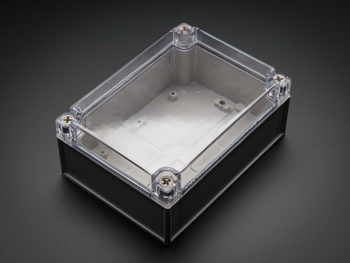 Large Plastic Project Enclosure Weatherproof With Clear Top Id Acrylic Case Casing Arduino Uno