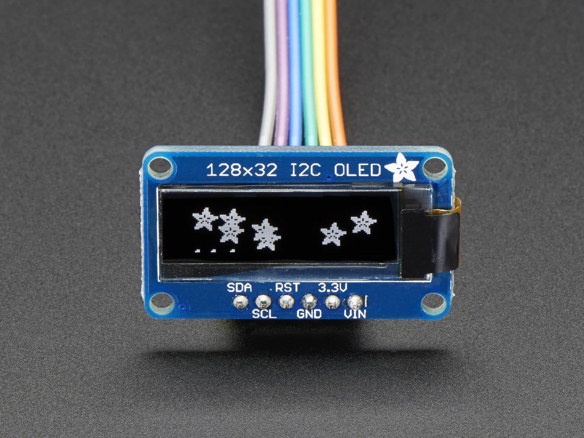 Monochrome 128x32 I2C OLED graphic display ID: 931 - $17 50