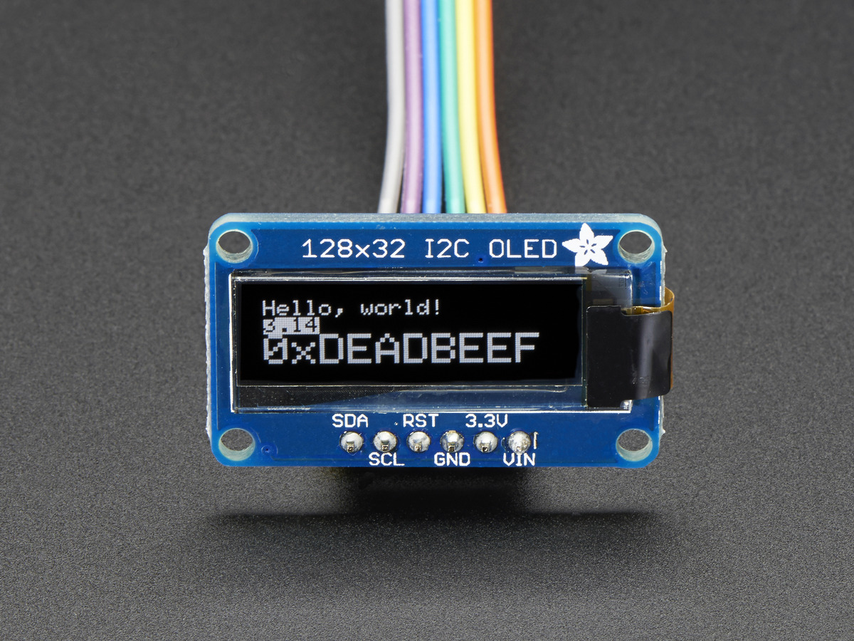 Monochrome 128x32 I2c Oled Graphic Display Id 931 17