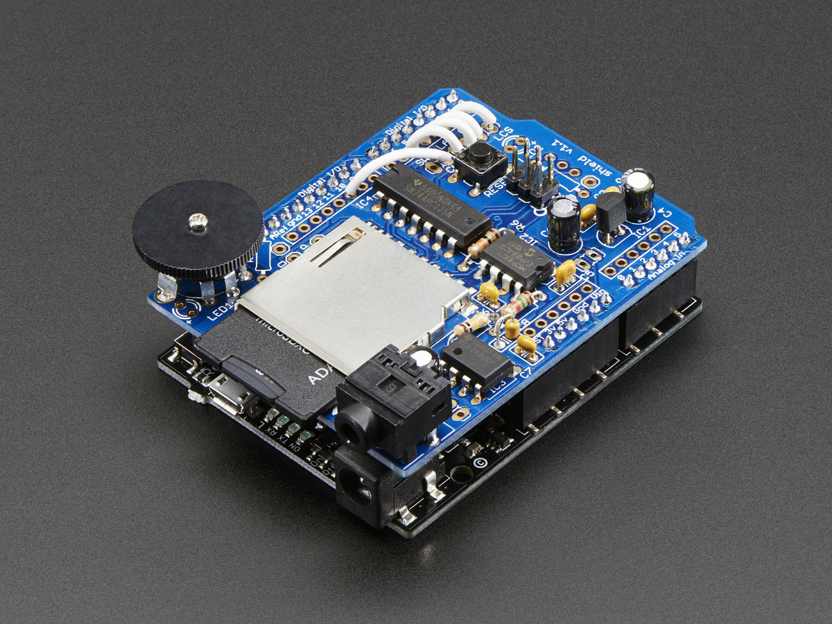 Adafruit Wave Shield for Arduino Kit [v1 1] ID: 94 - $22 00