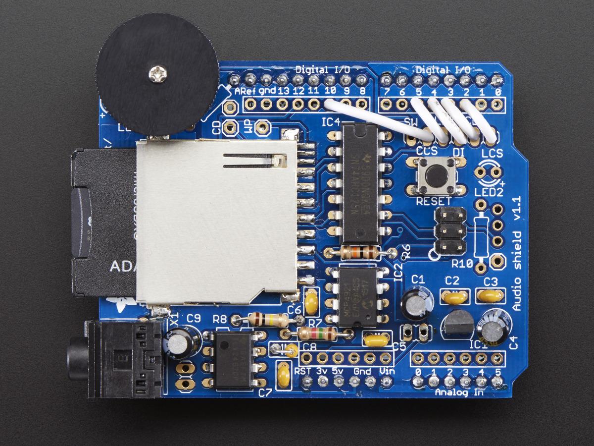 ModMyPi Adafruit Wave Shield for Arduino Kit - v11