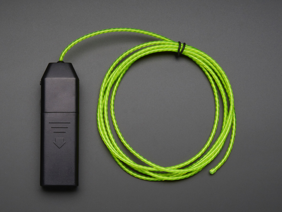 EL Flowing Effect Wire with Inverter - Green 2.0 meter (6.5 ft) ID ...