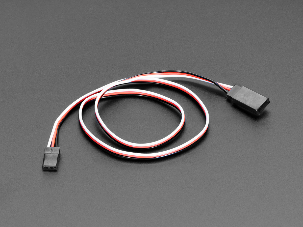 Servo Extension Cable 50cm 195 Long Id 973 250 Adafruit Wiring Red Black White 195quot