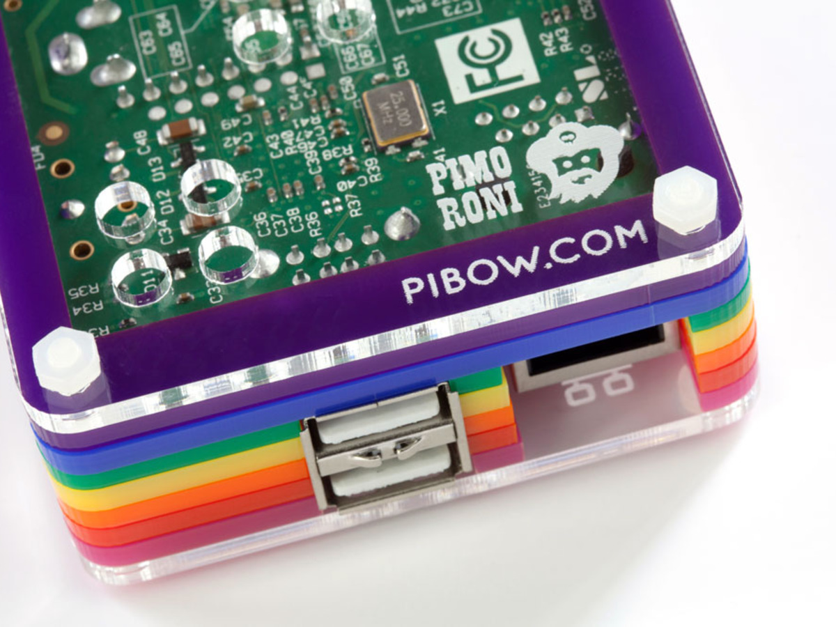 Rainbow Pibow - Enclosure for Raspberry Pi Model B ID: 975 - $0 95