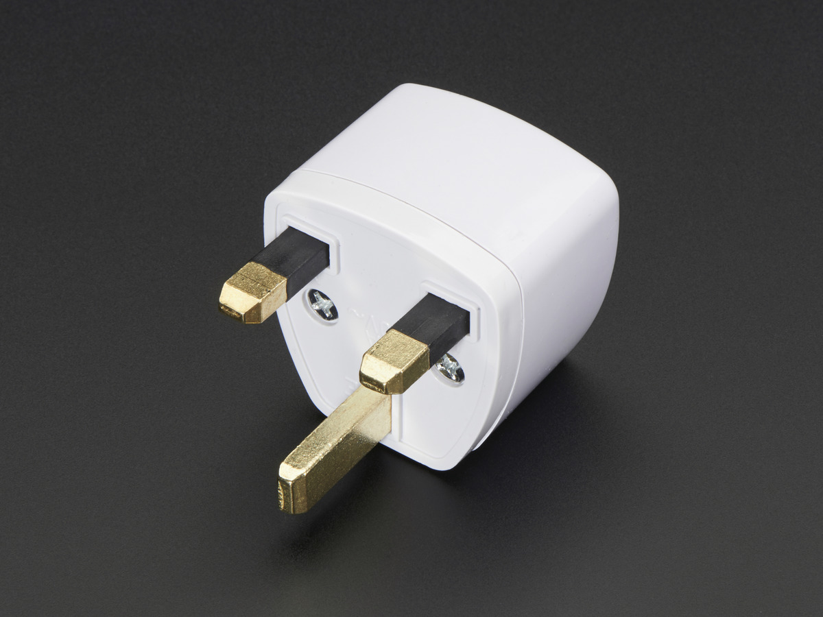 UK Plug Power Adapter ID: 989 - $2.95 : Adafruit Industries, Unique & fun  DIY electronics and kits