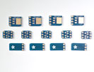 SMT Breakout PCB Set For SOT-23, SOT-89, SOT-223 and TO252