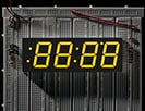 "Yellow 7-segment clock display - 1.2"" digit height"