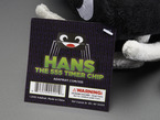 Close-up of Hans the 555 timer chip tag.