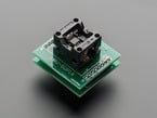 Angle shot of Test Socket - SOIC-8 Narrow Breakout with soldered on header