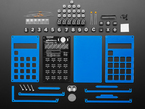 Spikenzie Labs Calculator Kit contents with PCB, enclosure and many components