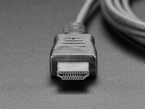 Close shot of the HDMI connector end