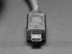 Close shot of the Micro HDMI connector end
