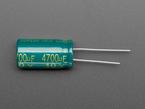 Profile shot of capacitor