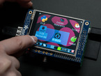 320x240 2.8 inch TFT and Touchscreen installed on Raspberry Pi with desktop showing