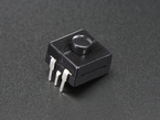 Angled shot of black on-off power button