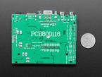 "Back shot of 10.1"" Display & Audio 1280x800 IPS - HDMI/VGA/NTSC/PAL measured by a US quarter"