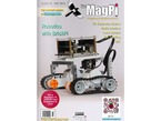 """Front cover of magazine """"The MagPi - Issue 17"""" featuring robotics with BrickPi."""