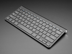 Angled shot of the Wireless keyboard - black colored