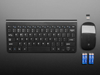 Wireless Keyboard and Mouse Combo - uses one USB port with batteries