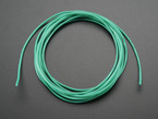 Silicone Cover Stranded-Core Wire - 2m 26AWG Green