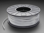 Spool of ABS Filament for 3D Printers - silver color with 3mm Diameter.