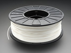 Spool of ABS Filament for 3D Printers - white color with 1.75mm Diameter.