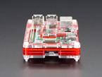 Side shot featuring microSD slot on assembled Pibow Coupé - Enclosure for Raspberry Pi 2 / B+ / Pi 3 / Pi 3 B