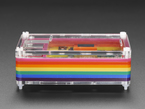 Side shot of assembled Rainbow Pibow - Enclosure for Raspberry Pi 2 / Model B+/ Pi 3.