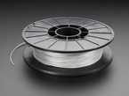 Spool of NinjaFlex Filament for 3D Printers - sterling silver color with 1.75mm Diameter.