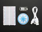 Spark Core, USB cable, breadboard and sticker