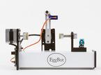Side of eggbot showing motor assembly