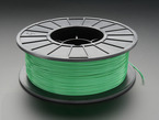 Spool of PLA Filament for 3D Printers -  green color with 1.75mm Diameter