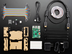 """Web and Mobile Systems Pack contents:  1x Digital RGB LED Weatherproof Strip - LPD8806 32 LED - (1m) 2x 4-pin JST SM Plug + Receptacle Cable Set  1x Premium Female/Male 'Extension' Jumper Wires - 40 x 6"""" (150mm) 1x Female DC Power adapter 1x 5V 2A power supply 1x Half-Size Breadboard -  1x Raspberry Pi B+ - 1x Miniature WiFi (802.11b/g/n) Module: For Raspberry Pi and more 1x Adafruit Pi Box Plus - Enclosure for Raspberry Pi Model B+  1x 5V 1A (1000mA) USB port power supply - UL Listed  1x USB cable - A/MicroB 1x SD/MicroSD Memory Card (8 GB SDHC) 1x HDMI Cable - 1 meter"""