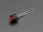 5mm Plastic Flat LED Holder with red LED installed