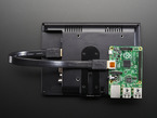 Cable being used to connect Raspberry Pi to display