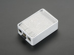Angled shot of assembled aluminum case for Raspberry Pi - Model B+ / Pi 2 / Pi 3.