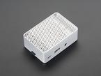 assembled aluminum case for Raspberry Pi - Model B+ / Pi 2 / Pi 3 with a microSD card.